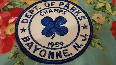 1959 Champs Defunct Bayonne New Jersey Dept. Of  Parks Patch Large