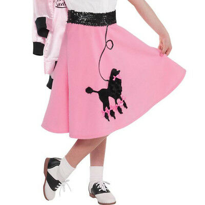 Amscan '50s Costume Party Pink Poodle Skirt - Standard Child Size