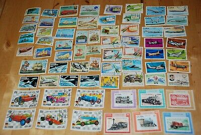 Transport large Collection - Ship, Airplane, Racing Car, Train,... 69 x