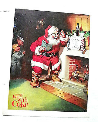 1963,dec.21 Sat. Evening Post Mag. Santa At Fireplace Reading Letter From Jimmy