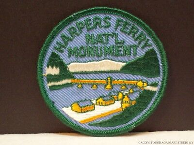 Vintage Harpers Ferry National Monument West Virginia Patch WV Souvenir Badge