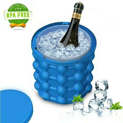 New Magic ICE CUBE Maker Bucket Silicone Genie Revolutionary Kitchen Tool Space