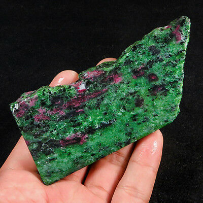 428Ct 100% Natural Red Green Bi Color Ruby In Zoisite Rough Specimen YGB56