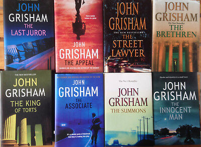 JOHN GRISHAM BOOKS - HBDJ lot x8- Last Juror, Appeal, Summons, Innocent Man, ++