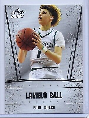 """Lamelo Ball 2018 Leaf Draft Silver """"1St Ever Printed"""" High School Rookie Card!"""