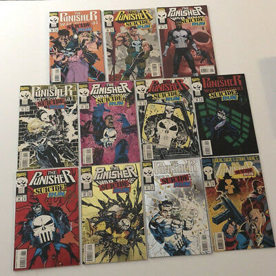 THE PUNISHER SUICIDE RUN 0,1-10 Complete Run Set WAR JOURNAL ZONE FNVF Lot of 11