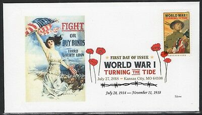 World War 1 - Turning The Tide First Day Cover - United States 7/27/2018