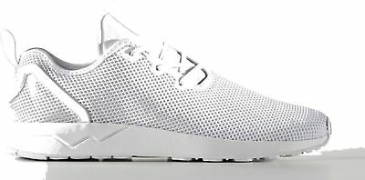 new styles ce1f1 a8cae ADIDAS ZX FLUX ADV Asym Size 4 Triple White RRP £80 BNIB S76378 ONE PAIR  ONLY