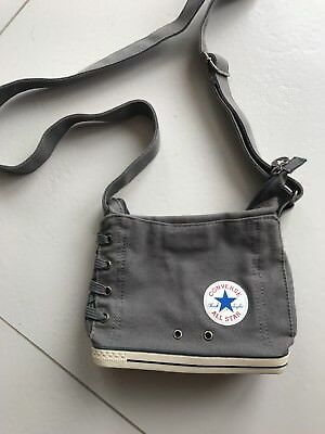 Converse All Star Cross Body Bag With Converse Sole Bottom Grey Very Rare Design