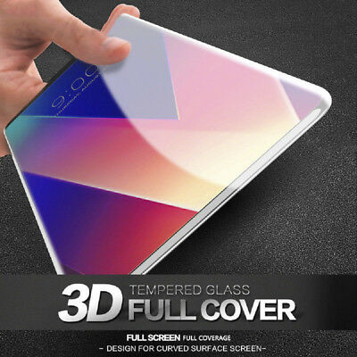 For LG V30 3D Glossy 9H Full Cover Screen Protector Curved Tempered Glass Film