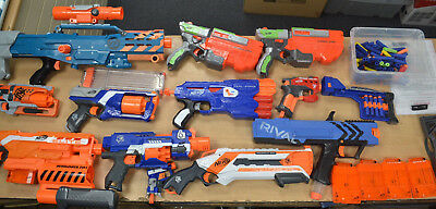 Job lot of Nerf Guns, Bullets and accessories