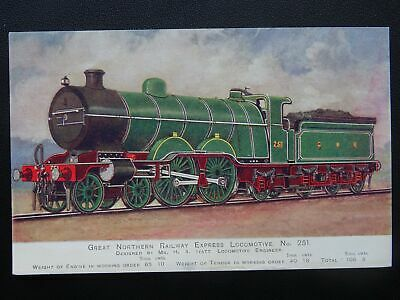 GNR Great Northern Railway EXPRESS LOCOMOTIVE No.251 - Old Postcard