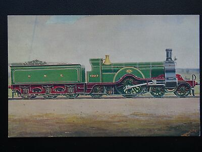 GNR Great Northern Railway LOCOMOTIVE No.1007 4-2-2 Old Postcard