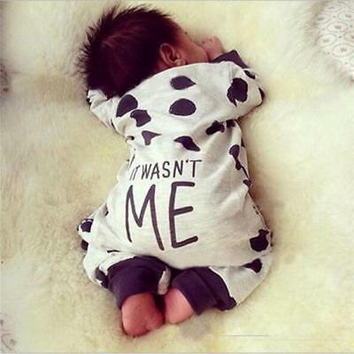 Baby Newborn Toddler Boy Girl Romper Jumpsuit Bodysuit Sleepsuit Clothes Outfits