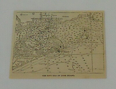 1887 small magazine engraving ~ EAST END OF LONG ISLAND, NY