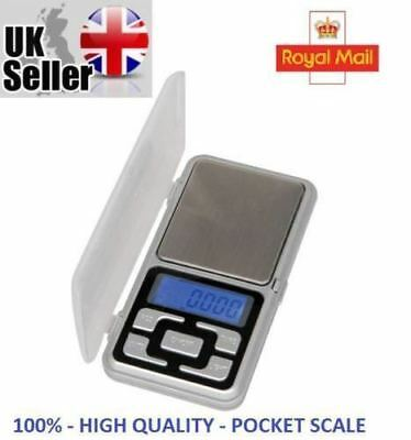 Pocket Digital Scales Jewellery Gold Weighing Mini LCD Electronic 0.01g 200g _UK