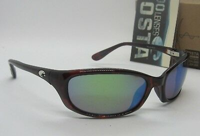 COSTA DEL MAR tortoise/green mirror HARPOON POLARIZED 400G sunglasses NEW IN BOX