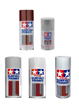 Tamiya Surface Primer / Fine Surface Primer Spray Available In Grey Or White