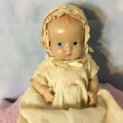 """10"""" Arranbee Drink'n Babe Composition All Original Vintage Baby Doll 1940-50"""