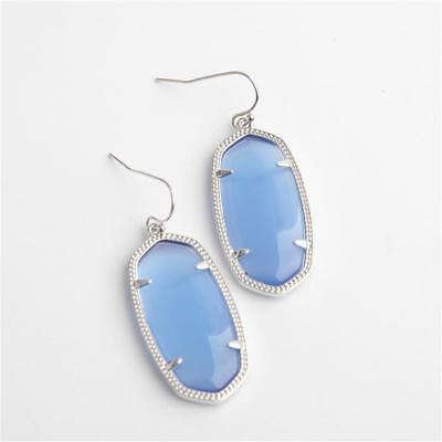 fcd262fe9 Kendra Scott Elle Silver Earrings in Periwinkle Cat's Eye w Dust Bag