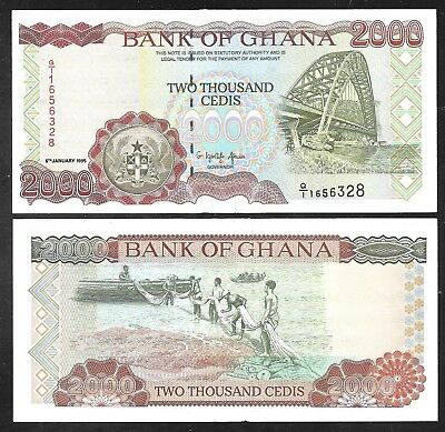 Ghana - 2000 Cedis Note - 1995 - P30b - Uncirculated
