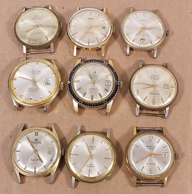Job Lot of 9 Vintage Manual Watches.. Spares / Repair (V22)