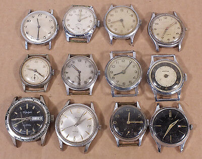 Job Lot of 12 Vintage Manual Watches.. Spares / Repair (V19)