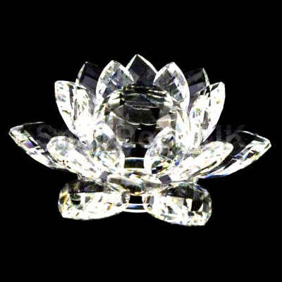 Clear Crystal Lotus Flower Ornament Large Crystocraft For Home Decoration New_Uk
