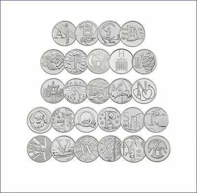 2018 10P Great Britain British Coin Hunt Complete Collection A To Z All 26 Coins