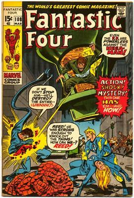 Fantastic Four 108 Marvel Bronze Stan Lee Jack Kirby Buscema Sinnott 1971 Nr