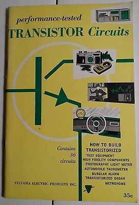 1958 Sylvania Performance-Tested Transistor Circuits - Contains 36 Circuits