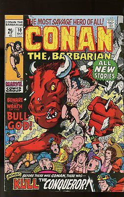 Conan The Barbarian #10 Very Good Barry Smith Art / 52 Pages 1971 Marvel Comics