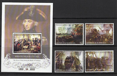 Antigua 2005 Battle of Trafalgar set & sheet UM (MNH)