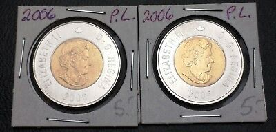 Lot of 2x 2006 Canada $2 Dollar Proof Like Toonies ***Mint Condition***