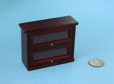 NICE 1/12 Scale Dollhouse Miniature Mahogany Barrister Bookcase #SDF76007