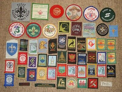 United Kingdom rare collection lot of 54 Boy Scouts patches