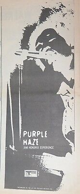"Jimi Hendrix Experience ""Purple Haze"" large ad UK 1967 + Bonus Neg"