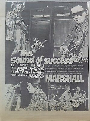 Jimi Hendrix Marshall Amps 1967 large ad Cream Procol Harum Small Faces + Bonus