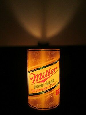 Vintage Miller High Life Can Shaped Lighted Bar Sign Wall Sconce Advertising