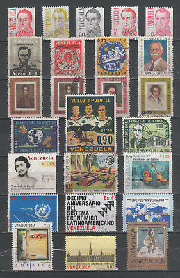 """R/al18521, LOT OF 25 USED STAMPS OF """"VENEZUELA"""", ALL DIFFERENT"""