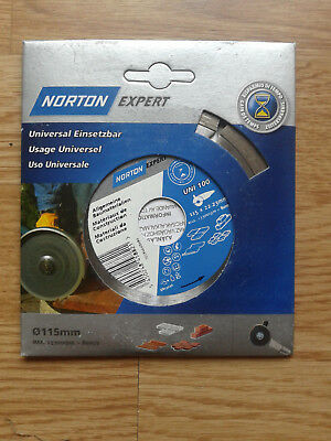 Lot De 2 Disques Neufs Diamant Norton Expert Diametre 115. Usage Universel