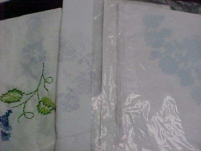8 Vintage Runner Dresser Scarf Embroidery Project Stamped Dainty Flowers 40s Era