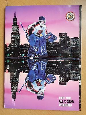 Nhl All Star Weekend Program 1991 - Chicago Stadium - Free Shipping