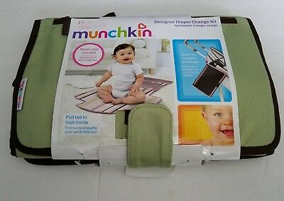 "New Baby Munchkin Designer Diaper Change Kit Travel Changing Pad 22.2"" X 19.5"""