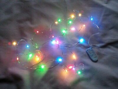 DOLLS HOUSE 30 MULTICOLOURED CHRISTMAS TREE FAIRY LIGHTS ( Batteries Included )
