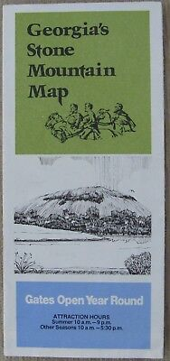 VINTAGE 1970s Georgia's Stone Mountain Map Confederate Memorial Carving