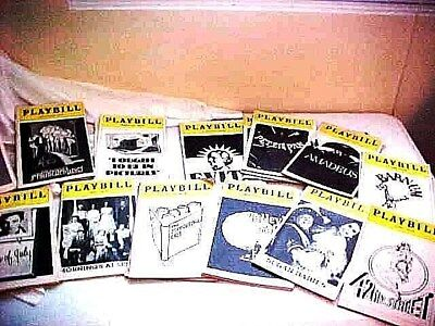 25 New York City Broadway PLAYBILLS - All 1980s vintage