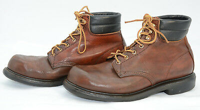 Vtg Red Wing USA Mens Sz 9.5 Leather Laced Work Hiking Outdoors Ankle Boots