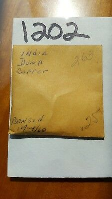 Lot 1202 India Dump Coin Copper Purchased 12/24/1960
