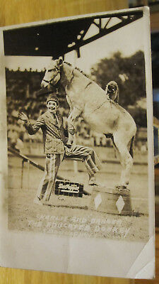 Vintage 1904-1950 CHARLIE and DANGER The Educated Donkey with Dr. Pepper Sign